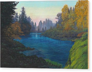 Oregon Santiam Landscape Wood Print by Michael Orwick