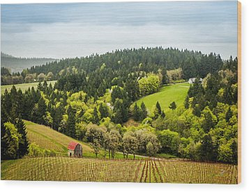 Oregon Wine Country Wood Print