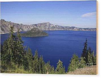 Oregons Crater Lake Wood Print