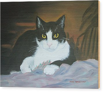 Oreo Wood Print by Anne Trotter Hodge