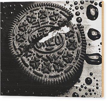 Oreo Cookie Wood Print by Nancy Mueller