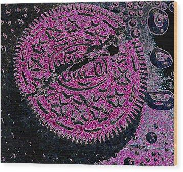 Oreo In Pink Wood Print by Nancy Mueller