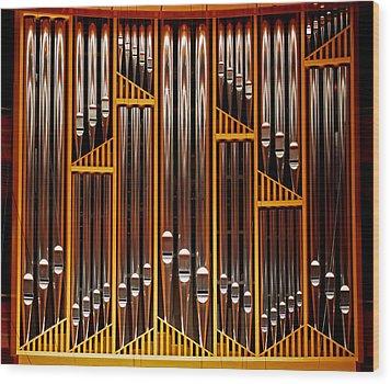 Organ Opus 76 - Philadelphia Wood Print by Rona Black