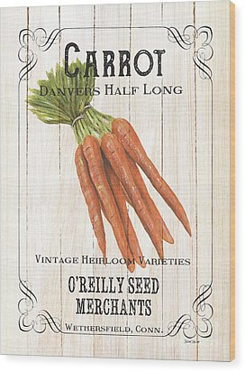 Organic Seed Packet 2 Wood Print by Debbie DeWitt