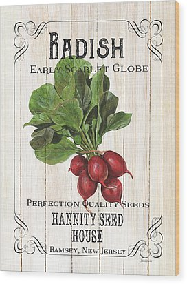 Organic Seed Packet 3 Wood Print by Debbie DeWitt