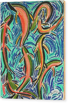 Orgy Oncorynchus Wood Print by Diallo House