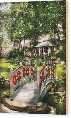 Orient - Bridge - The Bridge To The Temple  Wood Print by Mike Savad