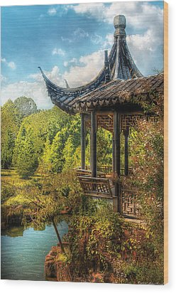 Orient - From A Chinese Fairytale Wood Print by Mike Savad