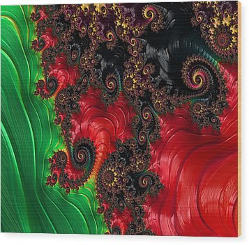 Oriental Abstract Wood Print