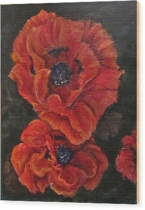 Oriental Poppys  Wood Print
