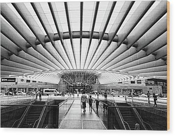 Wood Print featuring the photograph Oriente Station by Stefan Nielsen