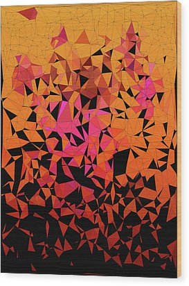 Origami Wood Print by Susan Maxwell Schmidt