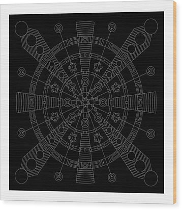 Origin Inverse Wood Print by DB Artist