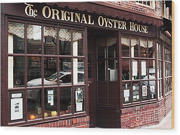 Original Oyster House Wood Print by John Rizzuto