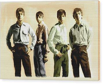 Original Punk The Beatles Wood Print by Iconic Images Art Gallery David Pucciarelli