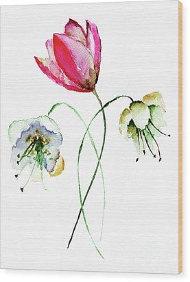 Original Summer Flowers Wood Print