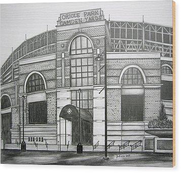Oriole Park Camden Yards Wood Print by Juliana Dube