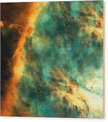 Orion Nebula Fire Sky Wood Print by Jennifer Rondinelli Reilly - Fine Art Photography