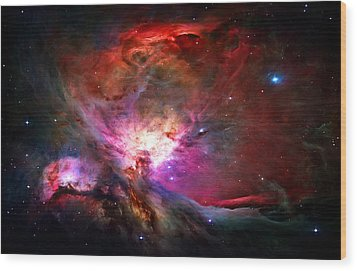 Orion Nebula Wood Print by Michael Tompsett