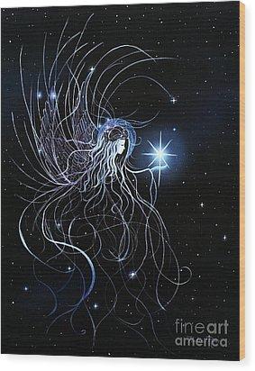 Orions Angel Wood Print by Pauline Ross