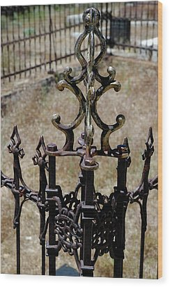 Ornate Iron Works Virginia City Nv Wood Print by LeeAnn McLaneGoetz McLaneGoetzStudioLLCcom
