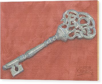 Ornate Mansion Key Wood Print by Ken Powers