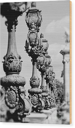Ornate Paris Street Lamp Wood Print by Ivy Ho