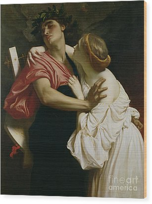 Orpheus And Euridyce Wood Print by Frederic Leighton