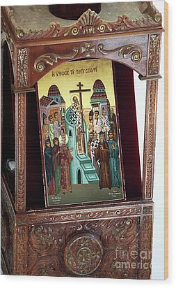 Orthodox Icon Wood Print by John Rizzuto