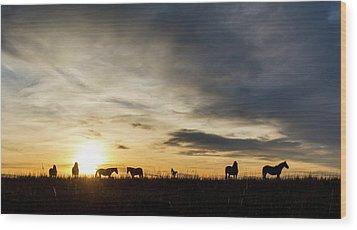 Osage Horses Wood Print