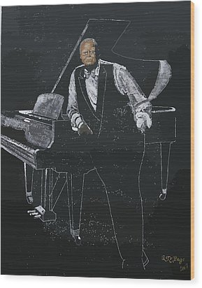 Oscar Peterson Wood Print