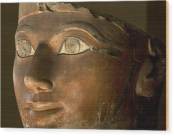 Osiris Statue Face Of Hatshepsut Wood Print by Kenneth Garrett
