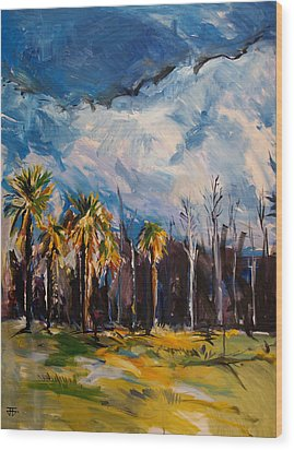Ossabaw Clouds Wood Print by John Jr Gholson