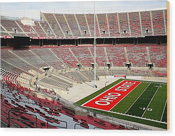 Osu Football Stadium Wood Print by Laurel Talabere