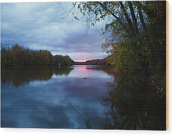 Oswego River Wood Print by Everet Regal