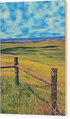 Other Side Of The Fence Wood Print by Jeff Kolker