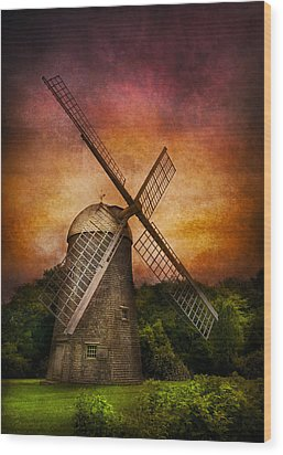 Other - Windmill Wood Print by Mike Savad