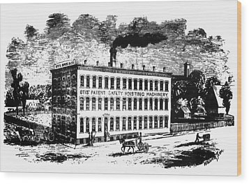 Otis Elevator Factory Wood Print by Granger