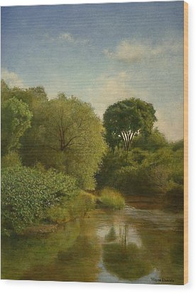 Otselic River Wood Print by Wayne Daniels