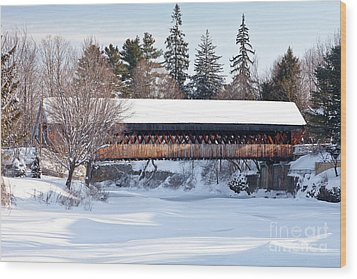 Wood Print featuring the photograph Ottaquechee Middle Bridge by Susan Cole Kelly