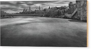 Ottawa Spring Flood Wood Print