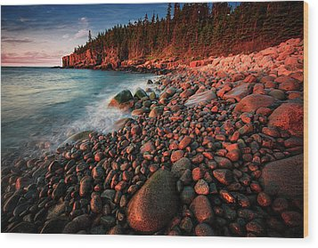 Wood Print featuring the photograph Otter Beach Main After The First Light  by Emmanuel Panagiotakis