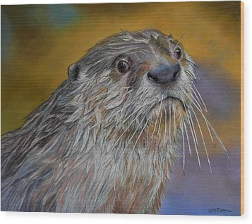 Otter Or Not Wood Print by Ceci Watson