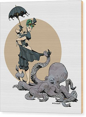 Otto By The Sea Wood Print by Brian Kesinger