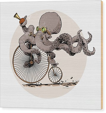 Otto's Sweet Ride Wood Print by Brian Kesinger