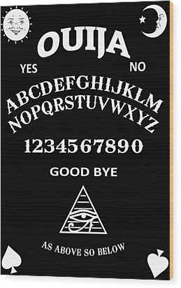 Wood Print featuring the digital art Ouija by Nicklas Gustafsson