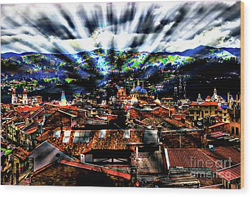 Our City In The Andes Wood Print by Al Bourassa