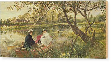 Our Holiday Wood Print by Charles James Lewis