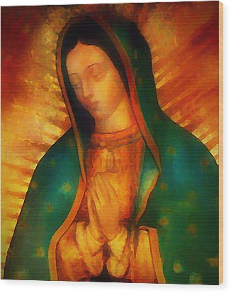 Our Lady Of Guadalupe Wood Print by Bill Cannon