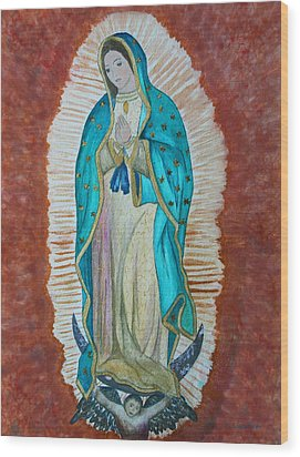 Our Lady Of Guadalupe Wood Print by Kerri Ligatich